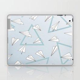 Paper Planes - Blue Laptop & iPad Skin