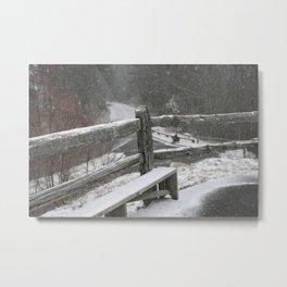 Snowfall on the Mountain Metal Print