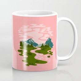 Pink Skies Mountain Landscape Coffee Mug