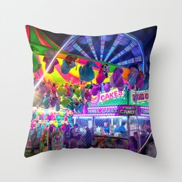 Fun Fun and Funnel Cakes at the carnival Throw Pillow