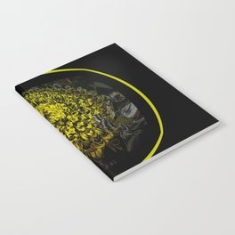 Black Yellow Pink Design Notebook