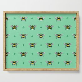 Bumblebees on Spearmint Serving Tray