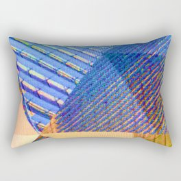 Geometric, Architectural Colorful Graphic Designs Rectangular Pillow