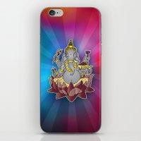 ganesh iPhone & iPod Skins featuring Ganesh by Street But Elegant