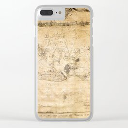 Plan of the Siege of the Havana Surrender (Aug. 12, 1762) Clear iPhone Case