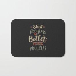 Progress - Motivational Quotes Bath Mat