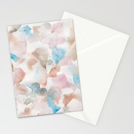 180713 Soft Pastel Watercolour| Watercolor Brush Strokes Stationery Cards