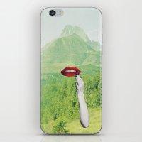 lipstick iPhone & iPod Skins featuring LIPSTICK by Luca Mainini