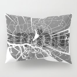 Hamburg Map Pillow Sham