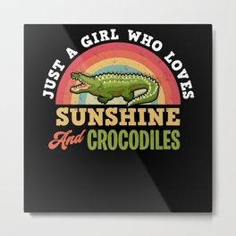 Crocodile animal Metal Print