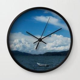 Titicaca lake raft Wall Clock