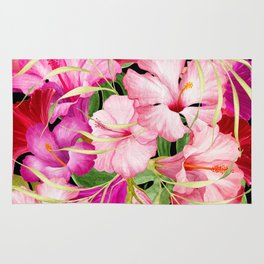 Tropical Power Flowers Rug