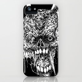 Tortured Skull Of Death iPhone Case