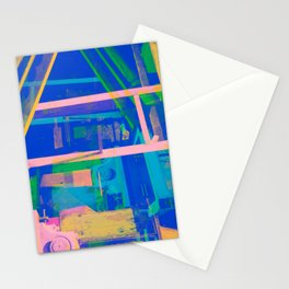 Industrial Abstract Blue 2 Stationery Cards