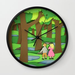 Wood Between Worlds Wall Clock