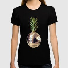 ananas party (pineapple) X-LARGE Womens Fitted Tee Black