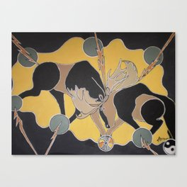 MOOSE THUNDER Canvas Print