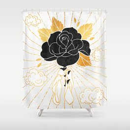 Black Rose Inktober :: Your Psyche Shower Curtain