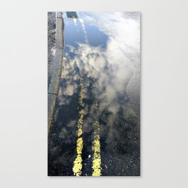 Reflected clouds and urban patterns Canvas Print