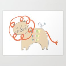 Lion2 Art Print