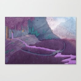 Extraterrestrial Mountaintop Canvas Print