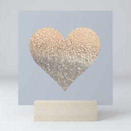 GATSBY GOLD HEART GREY II November Skies Mini Art Print