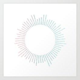 Collective Nouns (Tropical) Art Print