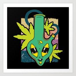 Alien Bong Tropical Sensation Art Print
