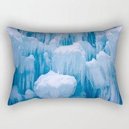 Beautiful Blue Icicles Rectangular Pillow