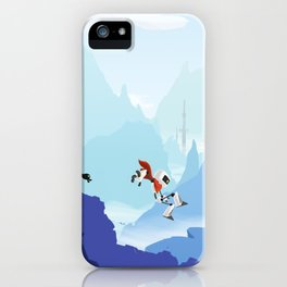 Down The Mountainside iPhone Case