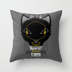 Le Chat Sinistre Throw Pillow
