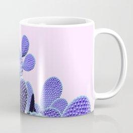 Prickly Cactus - Purple on Pink #cactuslove #tropicalart Coffee Mug