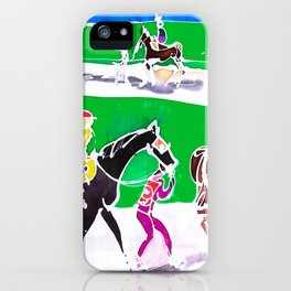 At the Races           by Kay Lipton iPhone Case