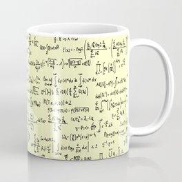 Math Equations // Pale Yellow Coffee Mug