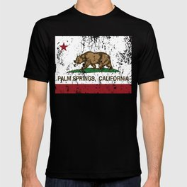 California Flag Palm Springs distressed T-shirt