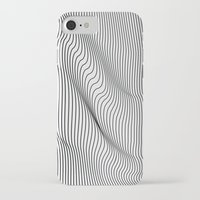 flag iPhone & iPod Cases featuring Minimal Curves by Leandro Pita