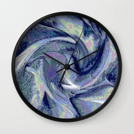 Blue Marble Abstract  Background Wall Clock