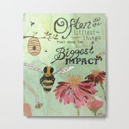 Honeybees May Be Little Metal Print