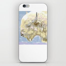 White buffalo calf iPhone Skin