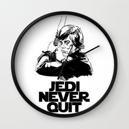 Jedi Never Quit Wall Clock