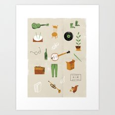 Music & Things Art Print