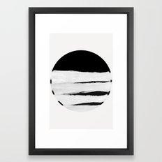 White Space Framed Art Print