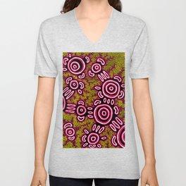 U Belong - Authentic Aboriginal Art Unisex V-Neck