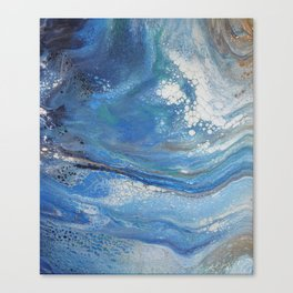 Sea Spray: Acrylic Pour Painting Canvas Print