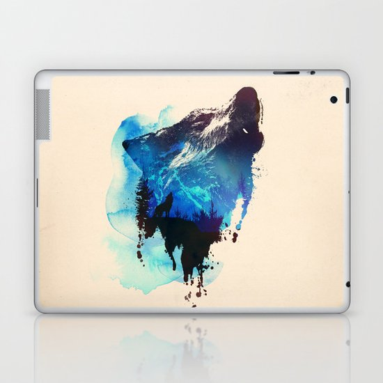 Alone as a wolf Laptop & iPad Skin