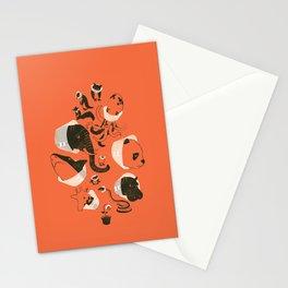 Cones of Shame (orange) Stationery Cards