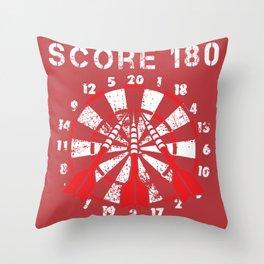 180 Points Darts Arrows Dartplayer Gift Throw Pillow