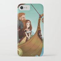 vikings iPhone & iPod Cases featuring Vikings by Supergna