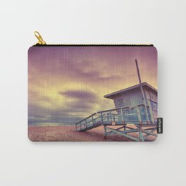 Lifeguard tower at sunset at Hermosa Beach, California Carry-All Pouch
