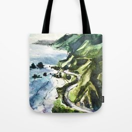 California Coast Big Sur USA Tote Bag